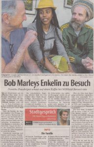 thumbnail of Bob Marleys Enkeltochter in der NW_0001